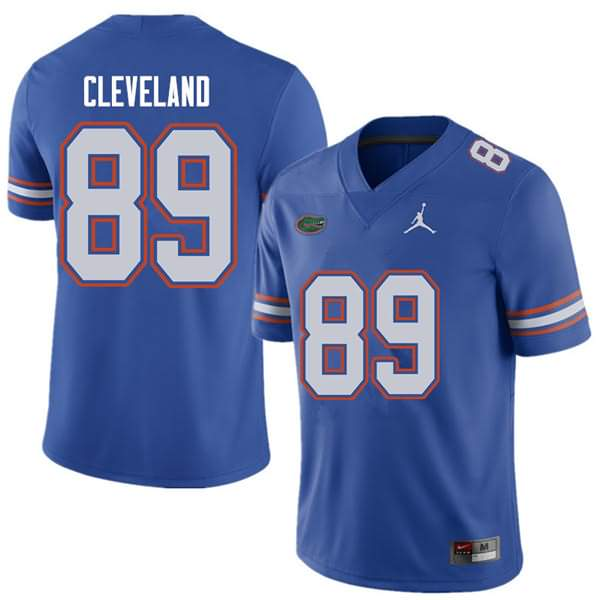 Men's Florida Gators #89 Tyrie Cleveland Royal Jordan Brand NCAA College Football Jersey CIP885OJ