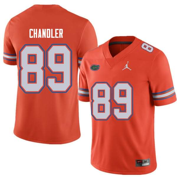 Men's Florida Gators #89 Wes Chandler Orange Jordan Brand NCAA College Football Jersey PGP121DJ