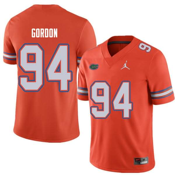 Men's Florida Gators #94 Moses Gordon Orange Jordan Brand NCAA College Football Jersey DDQ265YJ