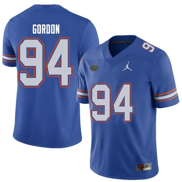 Men's Florida Gators #94 Moses Gordon Royal Jordan Brand NCAA College Football Jersey OHP863DJ