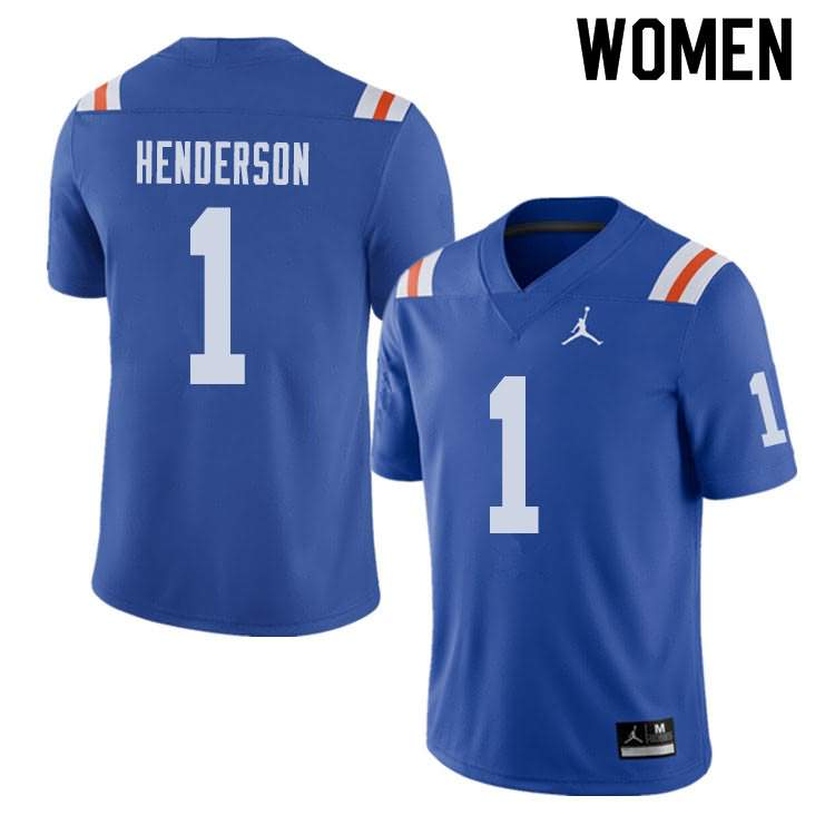 Women's Florida Gators #1 CJ Henderson Alternate Throwback Jordan Brand NCAA College Football Jersey GDR026TJ