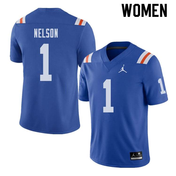 Women's Florida Gators #1 Reggie Nelson Alternate Throwback Jordan Brand NCAA College Football Jersey ZWH632DJ