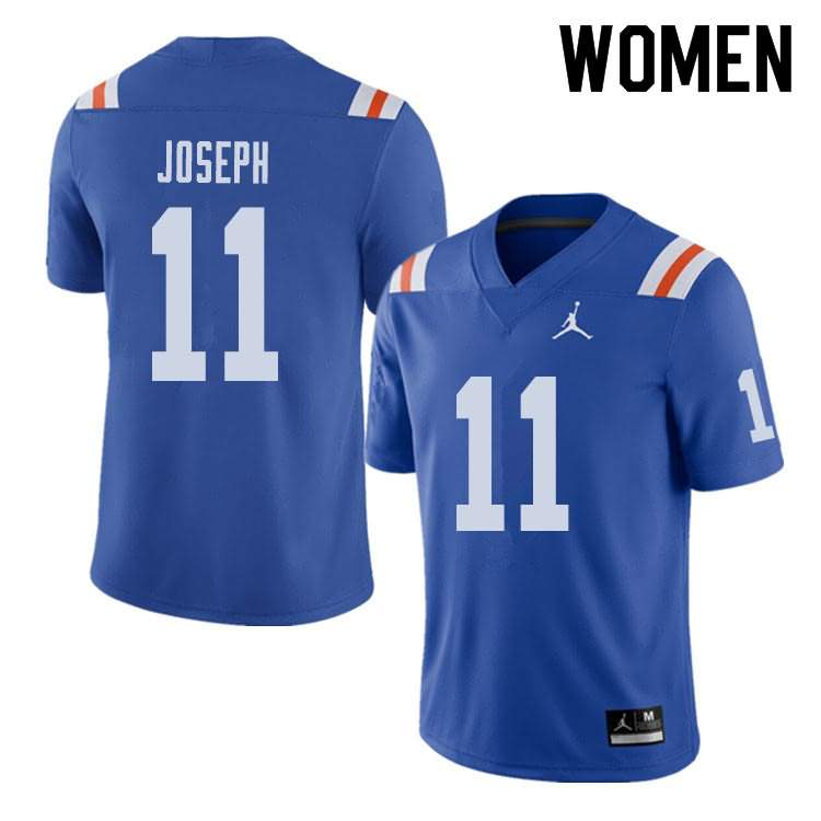 Women's Florida Gators #11 Vosean Joseph Alternate Throwback Jordan Brand NCAA College Football Jersey XIT310NJ