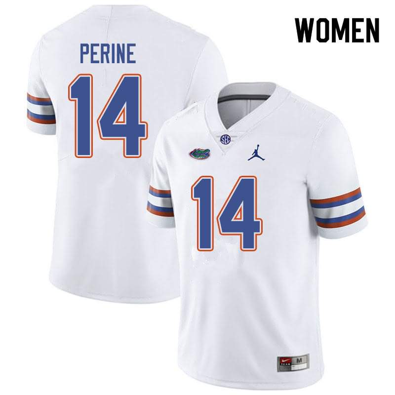 Women's Florida Gators #14 Lucas Krull White Jordan Brand NCAA College Football Jersey NTZ408TJ