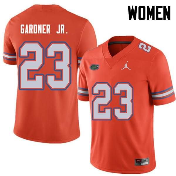 Women's Florida Gators #23 Chauncey Gardner Jr. Orange Jordan Brand NCAA College Football Jersey CWB654QJ