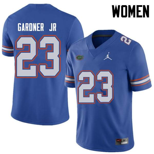Women's Florida Gators #23 Chauncey Gardner Jr. Royal Jordan Brand NCAA College Football Jersey KFB844QJ