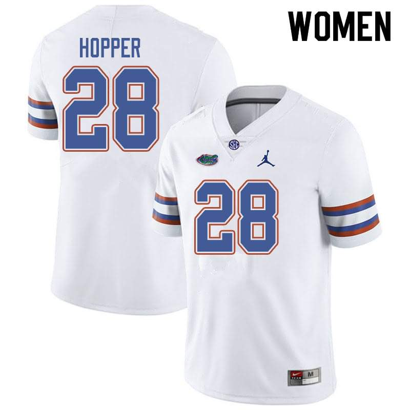 Women's Florida Gators #28 Ty'Ron Hopper White Jordan Brand NCAA College Football Jersey SAT808TJ