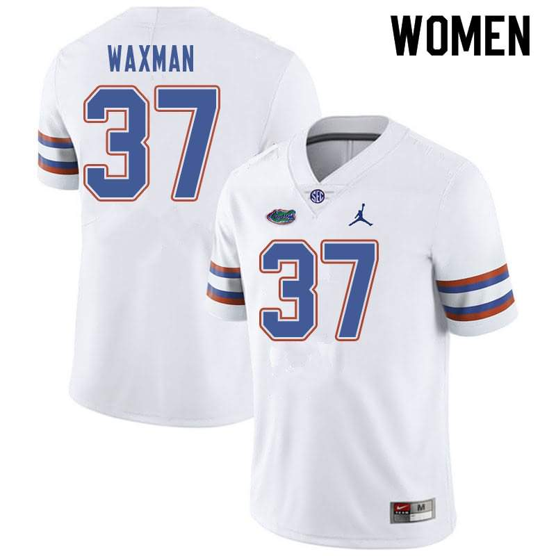 Women's Florida Gators #37 Tyler Waxman White Jordan Brand NCAA College Football Jersey SUP223HJ
