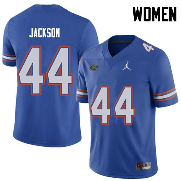 Women's Florida Gators #44 Rayshad Jackson Royal Jordan Brand NCAA College Football Jersey QOP675UJ