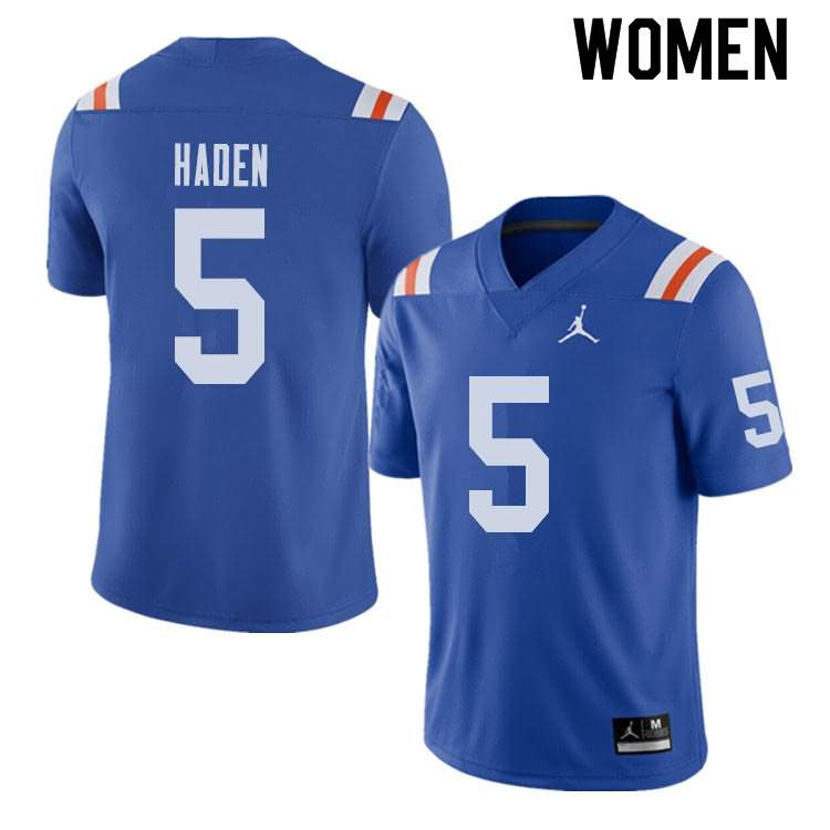 Women's Florida Gators #5 Joe Haden Alternate Throwback Jordan Brand NCAA College Football Jersey SFY346QJ