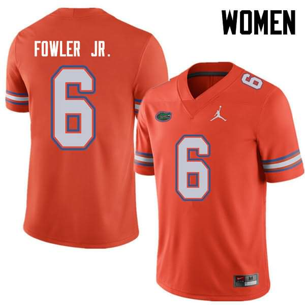 Women's Florida Gators #6 Dante Fowler Jr. Orange Jordan Brand NCAA College Football Jersey PLQ136LJ