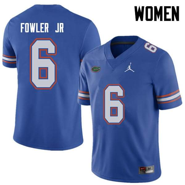 Women's Florida Gators #6 Dante Fowler Jr. Royal Jordan Brand NCAA College Football Jersey PVY552MJ