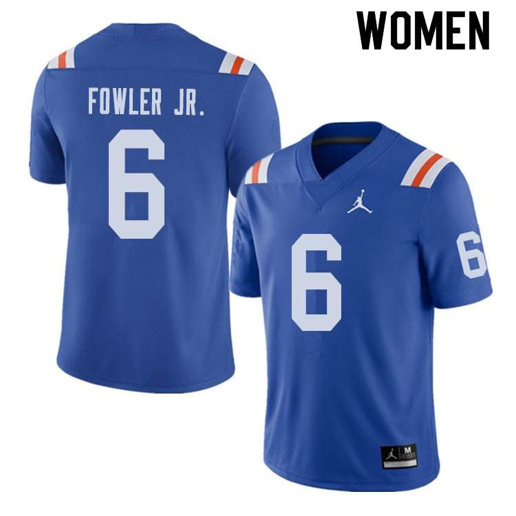 Women's Florida Gators #6 Dante Fowler Jr. Alternate Throwback Jordan Brand NCAA College Football Jersey FQA437EJ