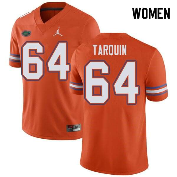 Women's Florida Gators #64 Michael Tarquin Orange Jordan Brand NCAA College Football Jersey TZS508UJ