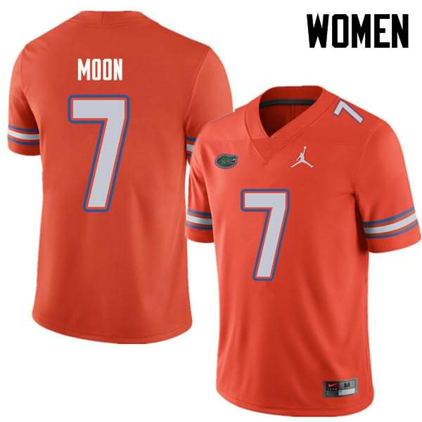Women's Florida Gators #7 Jeremiah Moon Orange Jordan Brand NCAA College Football Jersey EUT627RJ