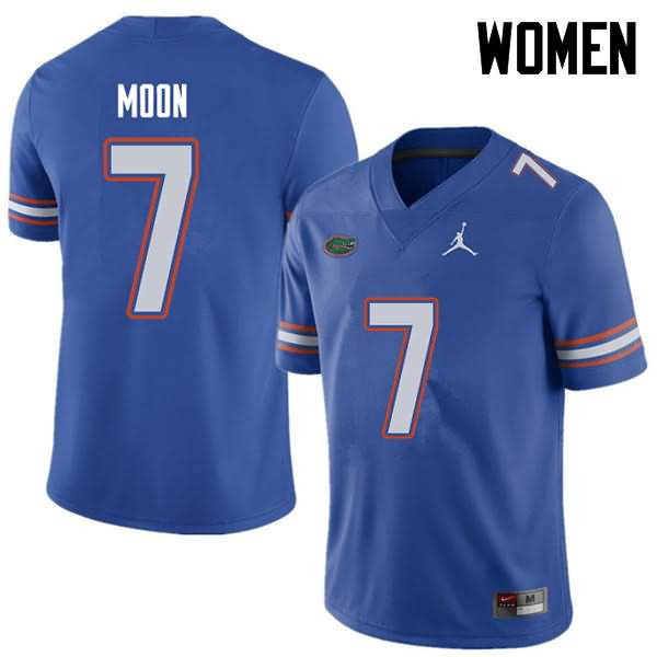 Women's Florida Gators #7 Jeremiah Moon Royal Jordan Brand NCAA College Football Jersey FKW631HJ