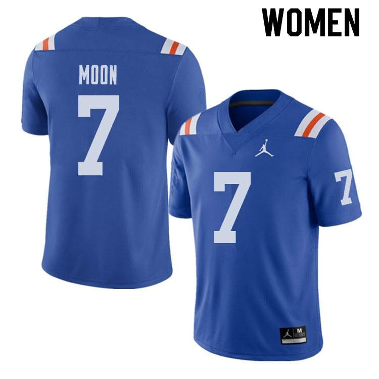 Women's Florida Gators #7 Jeremiah Moon Alternate Throwback Jordan Brand NCAA College Football Jersey SFK852CJ