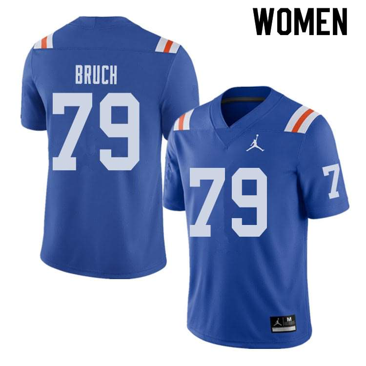 Women's Florida Gators #79 Dallas Bruch Alternate Throwback Jordan Brand NCAA College Football Jersey GFJ800ZJ