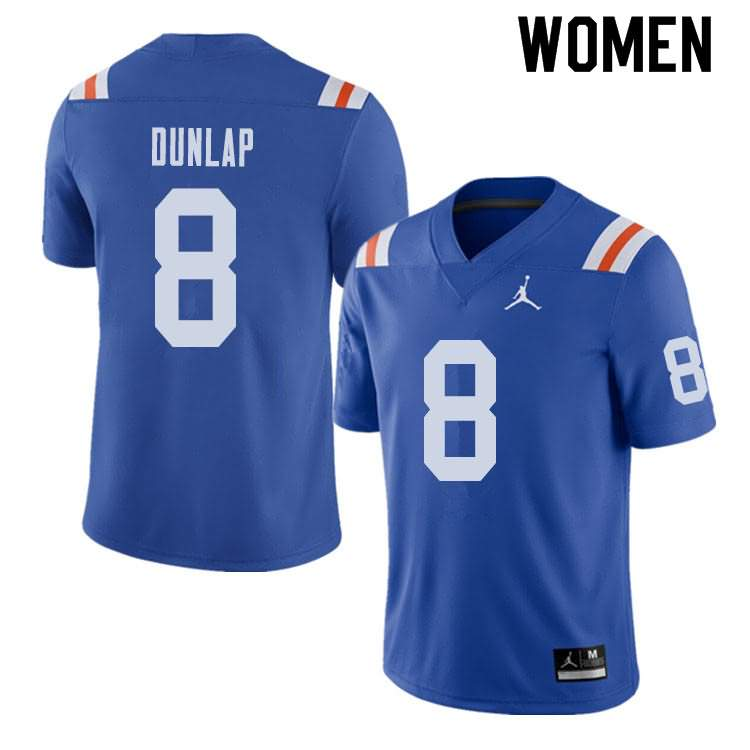 Women's Florida Gators #8 Carlos Dunlap Alternate Throwback Jordan Brand NCAA College Football Jersey ZLL886EJ