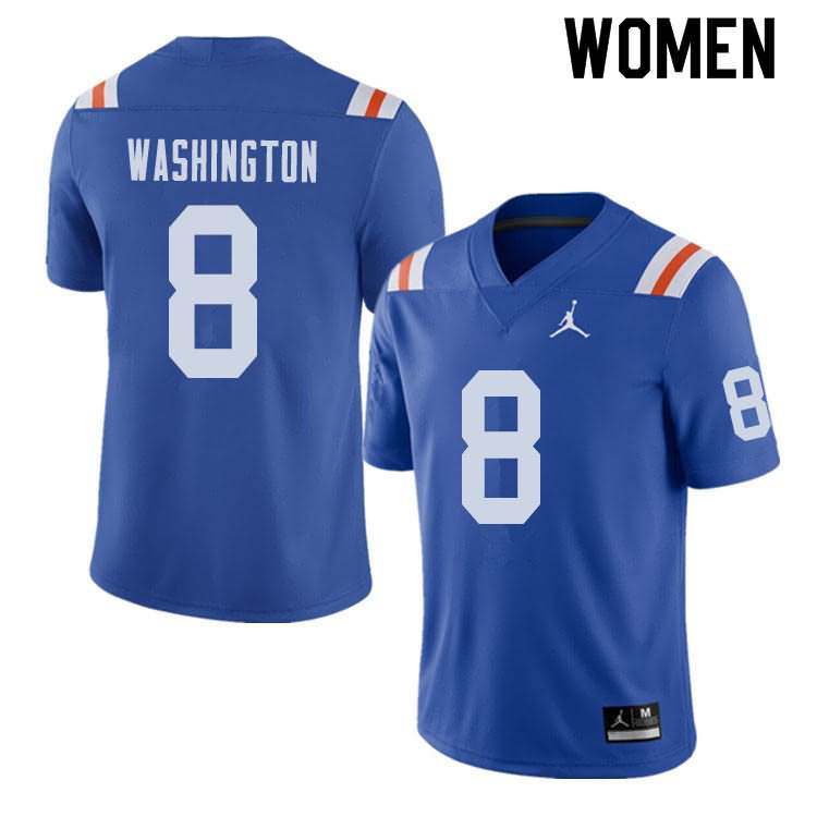 Women's Florida Gators #8 Nick Washington Alternate Throwback Jordan Brand NCAA College Football Jersey SDX351UJ