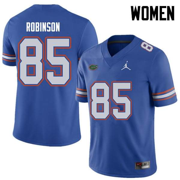 Women's Florida Gators #85 James Robinson Royal Jordan Brand NCAA College Football Jersey GIB082BJ