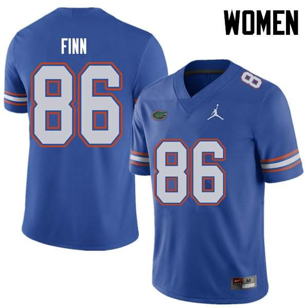 Women's Florida Gators #86 Jacob Finn Royal Jordan Brand NCAA College Football Jersey YKG762SJ