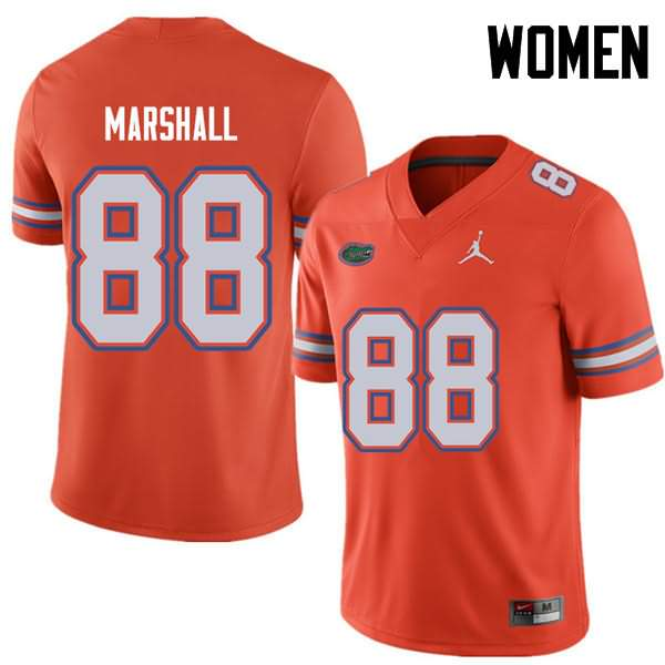 Women's Florida Gators #88 Wilber Marshall Orange Jordan Brand NCAA College Football Jersey VUA054VJ