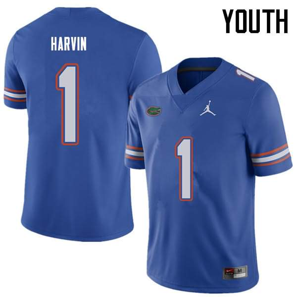 Youth Florida Gators #1 Percy Harvin Royal Jordan Brand NCAA College Football Jersey ONI150YJ