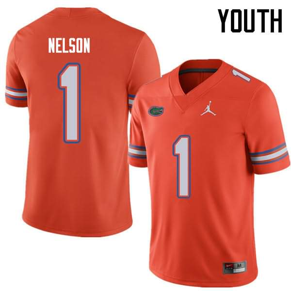 Youth Florida Gators #1 Reggie Nelson Orange Jordan Brand NCAA College Football Jersey LIM177QJ