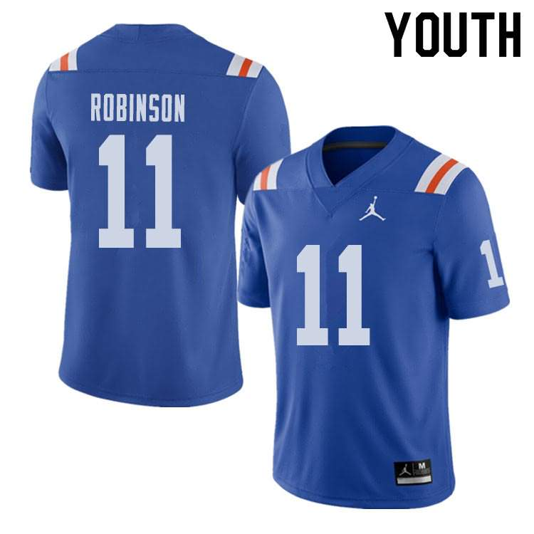 Youth Florida Gators #11 Demarcus Robinson Alternate Throwback Jordan Brand NCAA College Football Jersey DSG687YJ