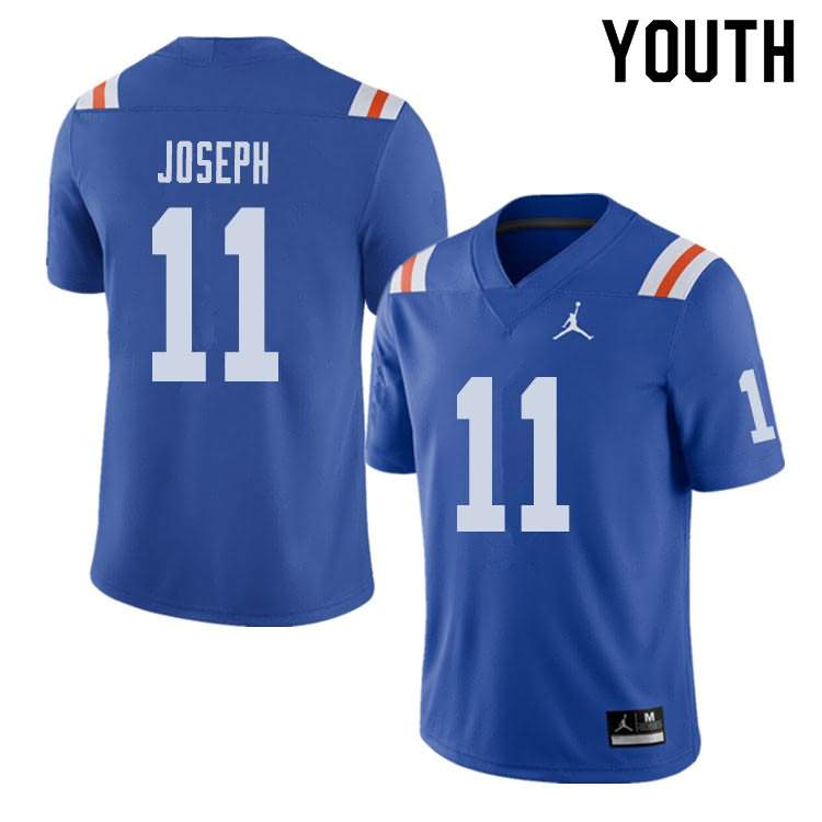 Youth Florida Gators #11 Vosean Joseph Alternate Throwback Jordan Brand NCAA College Football Jersey OMV136QJ