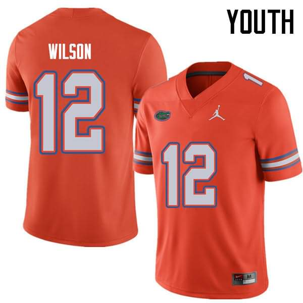 Youth Florida Gators #12 Quincy Wilson Orange Jordan Brand NCAA College Football Jersey NKT014GJ