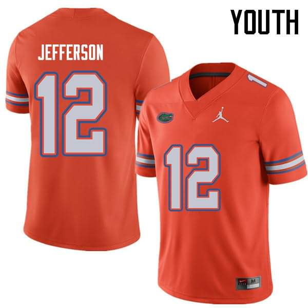 Youth Florida Gators #12 Van Jefferson Orange Jordan Brand NCAA College Football Jersey EHP073EJ