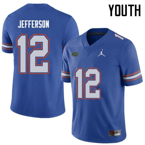Youth Florida Gators #12 Van Jefferson Royal Jordan Brand NCAA College Football Jersey YIW623VJ