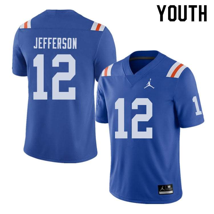 Youth Florida Gators #12 Van Jefferson Alternate Throwback Jordan Brand NCAA College Football Jersey XJO323FJ