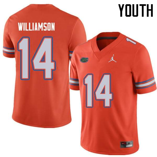 Youth Florida Gators #14 Chris Williamson Orange Jordan Brand NCAA College Football Jersey KFV537JJ