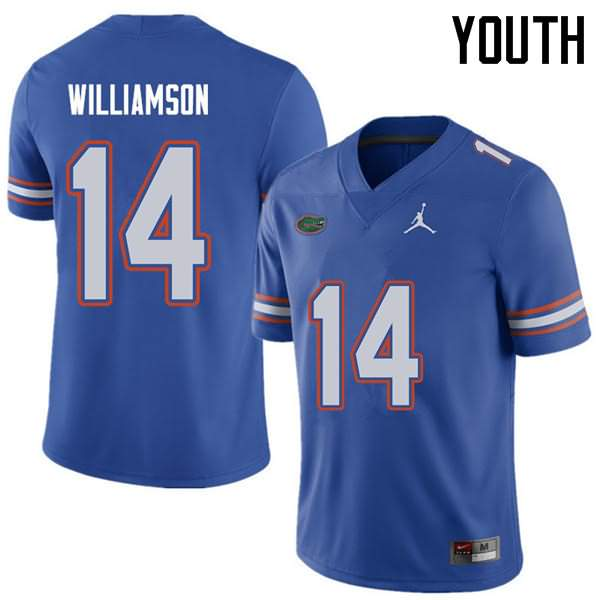 Youth Florida Gators #14 Chris Williamson Royal Jordan Brand NCAA College Football Jersey SUH613MJ