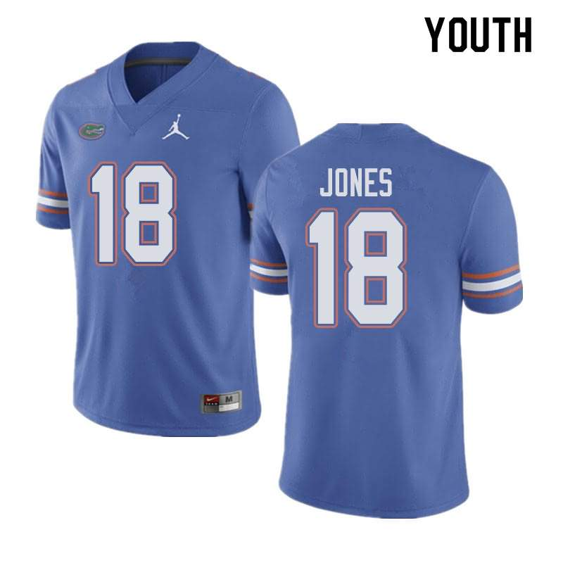 Youth Florida Gators #18 Jalon Jones Blue Jordan Brand NCAA College Football Jersey UMO440DJ