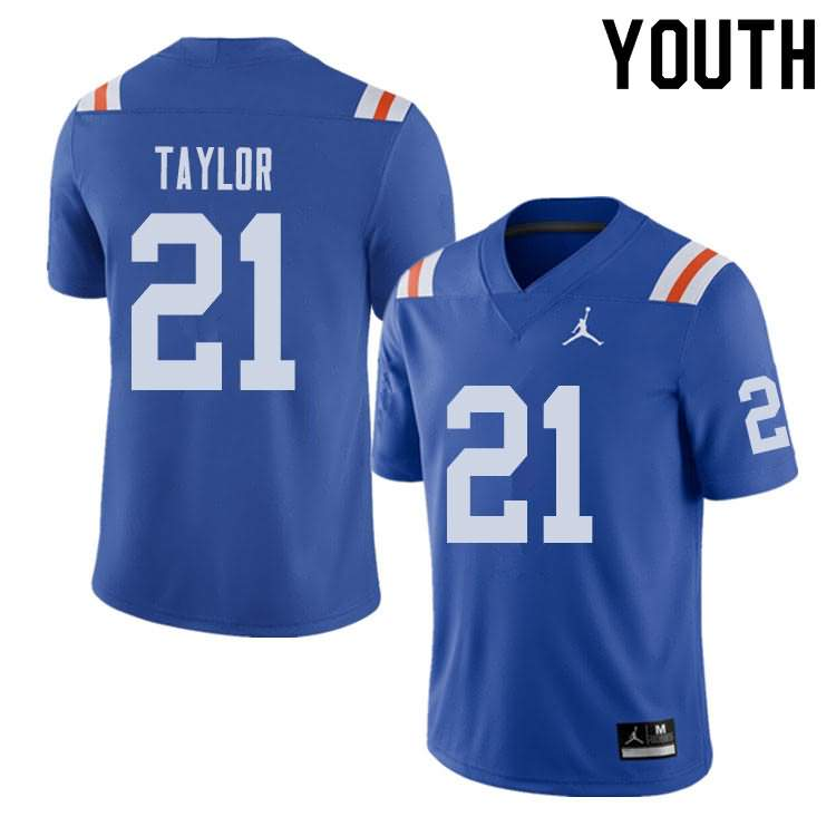 Youth Florida Gators #21 Fred Taylor Alternate Throwback Jordan Brand NCAA College Football Jersey CWZ584YJ
