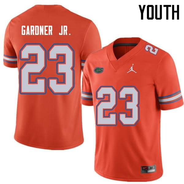 Youth Florida Gators #23 Chauncey Gardner Jr. Orange Jordan Brand NCAA College Football Jersey VUN064DJ