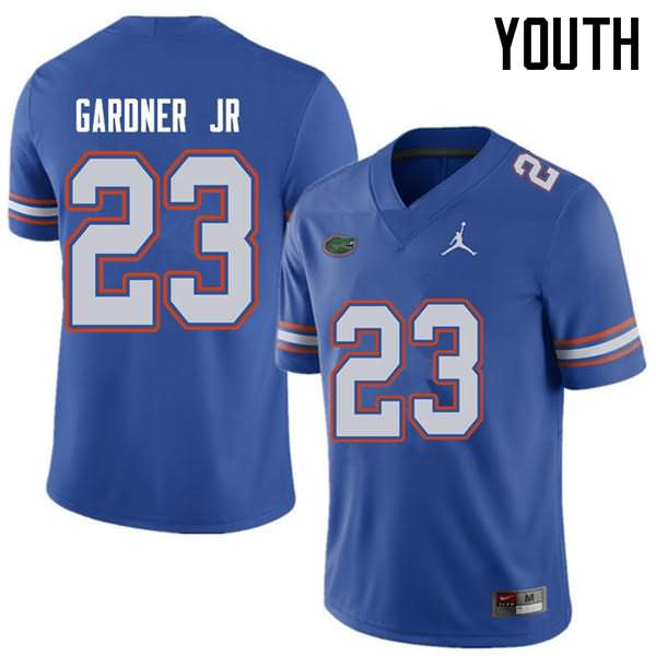 Youth Florida Gators #23 Chauncey Gardner Jr. Royal Jordan Brand NCAA College Football Jersey OQC243FJ
