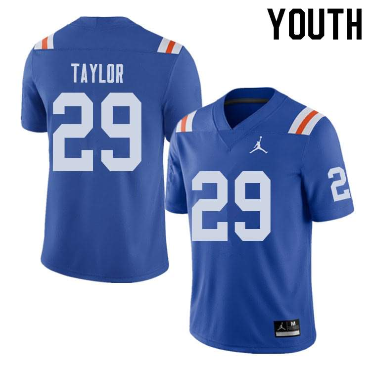Youth Florida Gators #29 Jeawon Taylor Alternate Throwback Jordan Brand NCAA College Football Jersey OUE102DJ