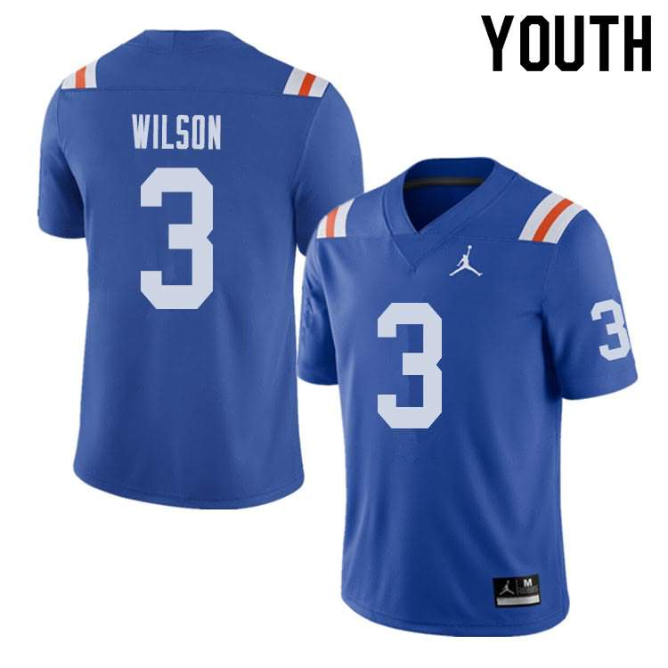 Youth Florida Gators #3 Marco Wilson Alternate Throwback Jordan Brand NCAA College Football Jersey MLW323BJ