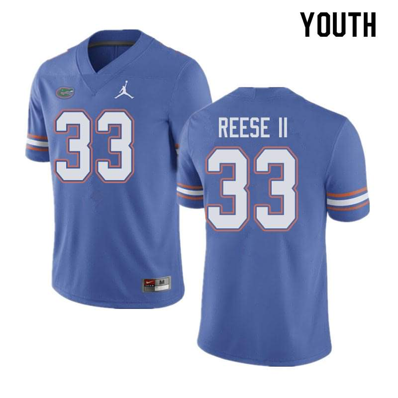 Youth Florida Gators #33 David Reese II Blue Jordan Brand NCAA College Football Jersey WHA288LJ