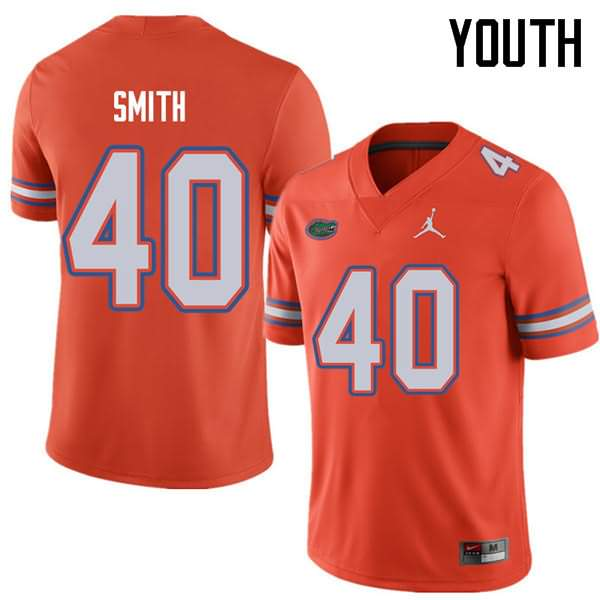 Youth Florida Gators #40 Nick Smith Orange Jordan Brand NCAA College Football Jersey VTU223CJ