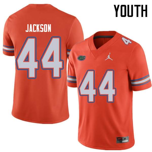 Youth Florida Gators #44 Rayshad Jackson Orange Jordan Brand NCAA College Football Jersey SKF714LJ