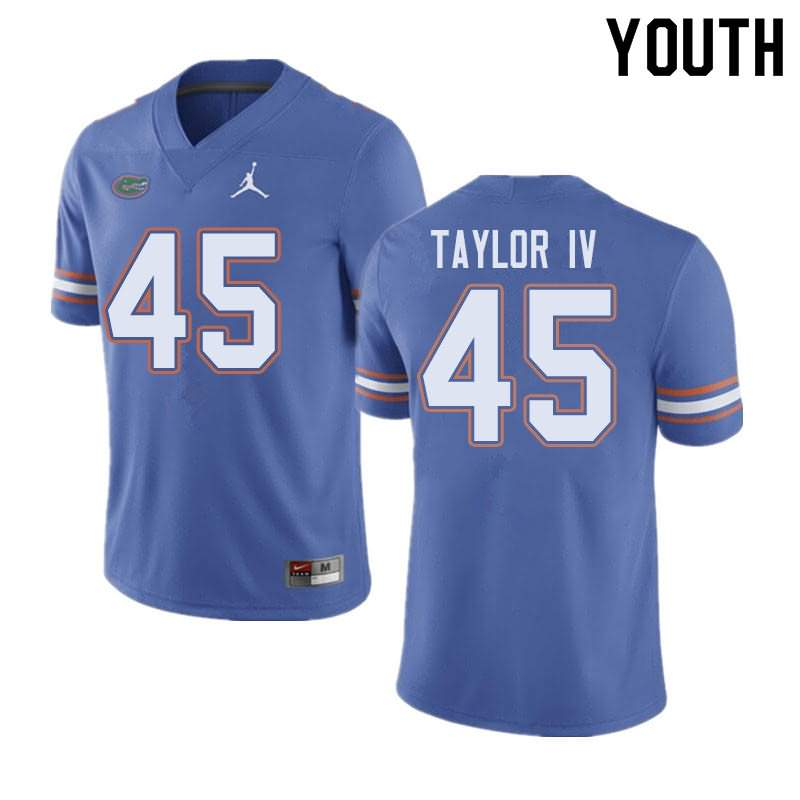 Youth Florida Gators #45 Clifford Taylor IV Blue Jordan Brand NCAA College Football Jersey ENB668QJ