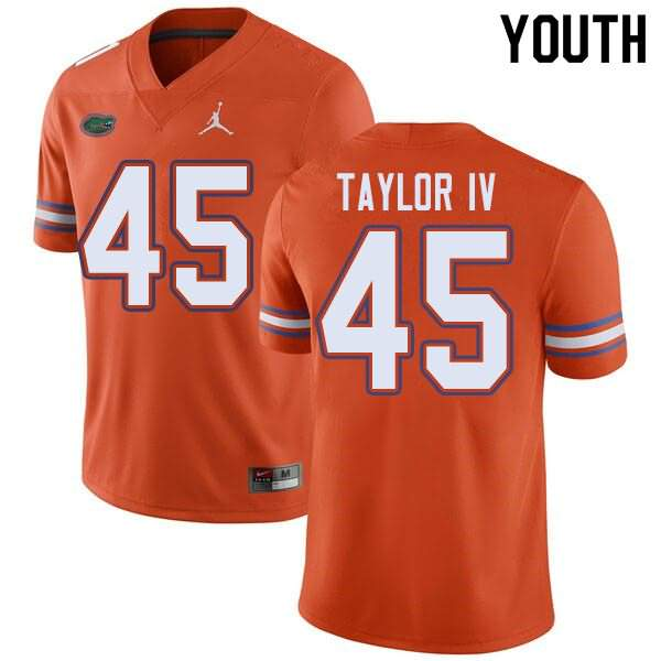 Youth Florida Gators #45 Clifford Taylor IV Orange Jordan Brand NCAA College Football Jersey QOG827AJ