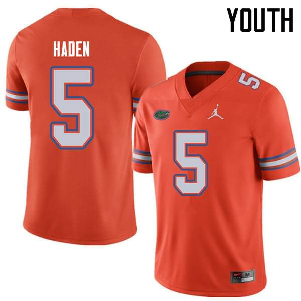 Youth Florida Gators #5 Joe Haden Orange Jordan Brand NCAA College Football Jersey IUL813BJ