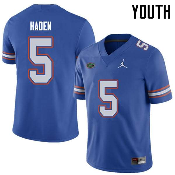 Youth Florida Gators #5 Joe Haden Royal Jordan Brand NCAA College Football Jersey VYB748UJ